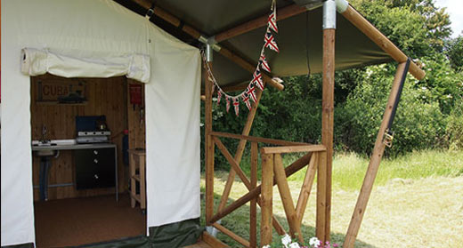 Safari tent Holiday Kent